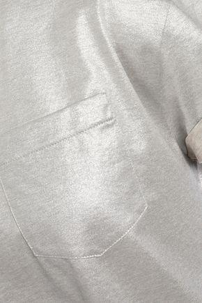 BRUNELLO CUCINELLI Embellished cotton-lamé T-shirt