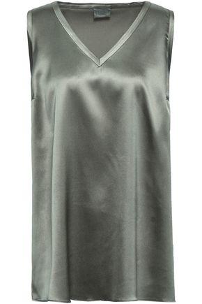 BRUNELLO CUCINELLI Stretch-silk satin top