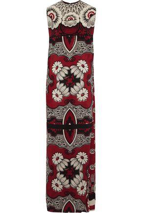 VALENTINO Printed silk crepe de chine maxi dress