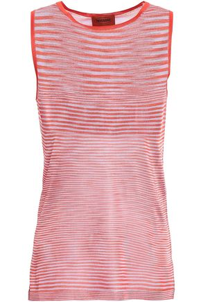 MISSONI Striped stretch-knit tank