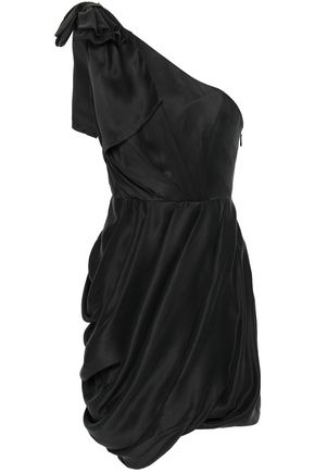 ZIMMERMANN One-shoulder pleated washed-silk mini dress