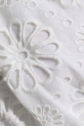 ZIMMERMANN Lumino Daisy off-the-shoulder cropped broderie anglaise cotton top