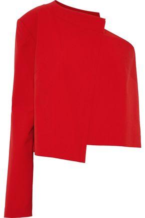 MICHELLE MASON One-shoulder asymmetric crepe top