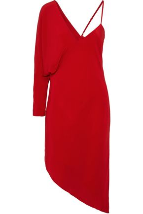 MICHELLE MASON Asymmetric silk crepe de chine dress