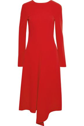 TIBI Asymmetric draped crepe dress