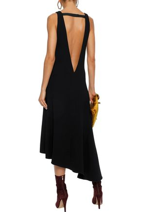 TIBI Asymmetric crepe midi dress