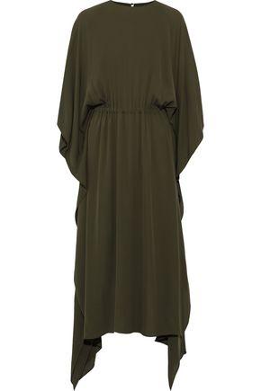 VALENTINO GARAVANI Gathered draped silk-crepe maxi dress