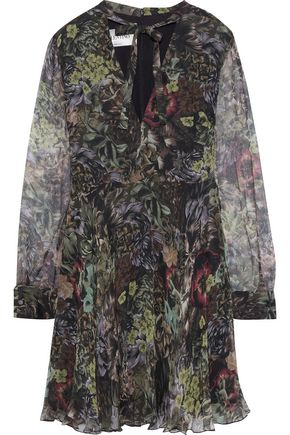 VALENTINO GARAVANI Floral-print silk-chiffon mini dress