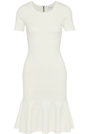 MILLY Embossed stretch-knit dress