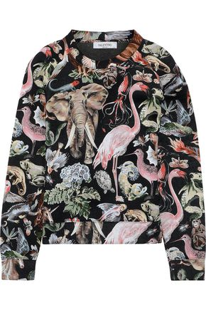 VALENTINO Printed cotton-neoprene sweatshirt