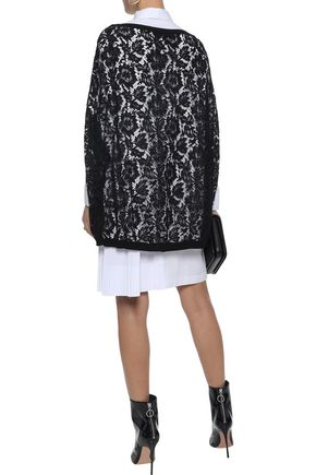 VALENTINO Tassel-trimmed cotton corded lace poncho