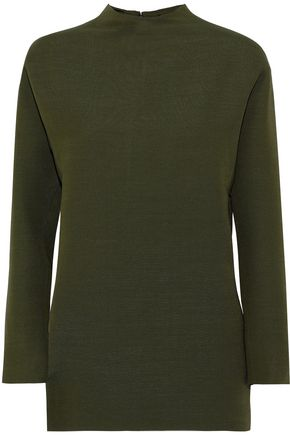 VALENTINO Wool and silk-blend woven top