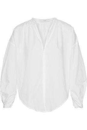 TOME Pleated cotton-poplin blouse