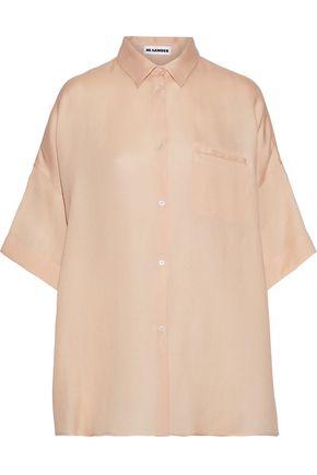 JIL SANDER Oversized silk-blend shirt