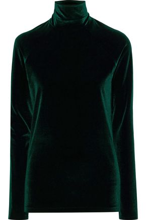 HAIDER ACKERMANN Kerria stretch-velvet turtleneck top