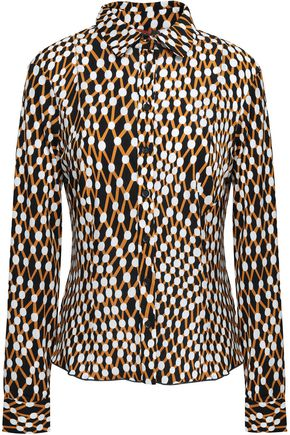 MISSONI Printed stretch-jersey shirt