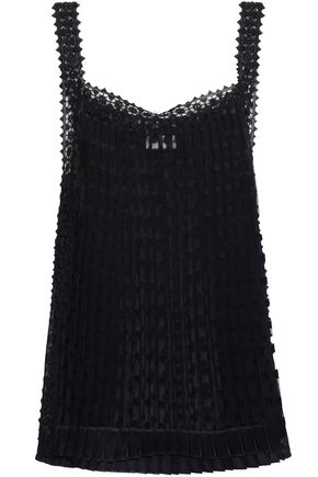 ZIMMERMANN Embroidered fil coupé organza top