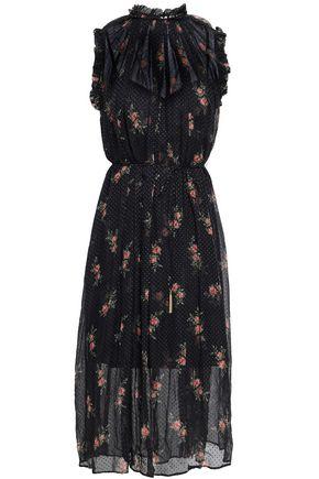 ZIMMERMANN Floral-print fil coupé silk-blend midi dress