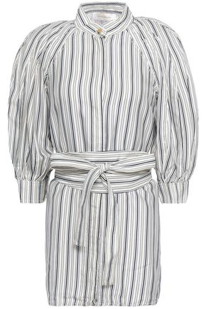 ZIMMERMANN Belted striped twill shirt