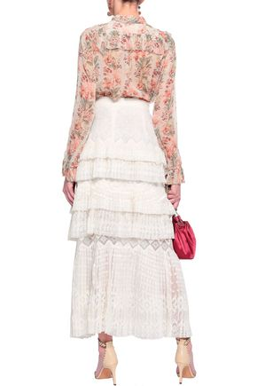 ZIMMERMANN Pussy-bow floral-print silk-georgette blouse