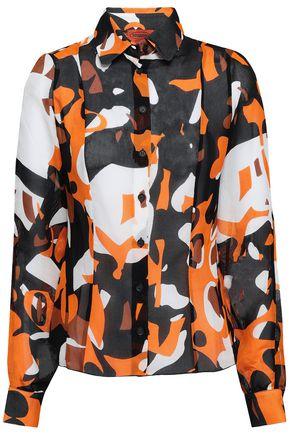MISSONI Printed silk-gauze shirt