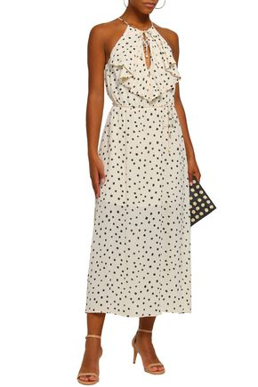 ZIMMERMANN Ruffled printed crepe midi dress