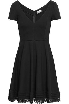 REDValentino Lace-trimmed cady mini dress