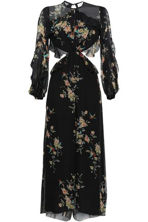 ZIMMERMANN Open-back floral-print silk-georgette jumpsuit