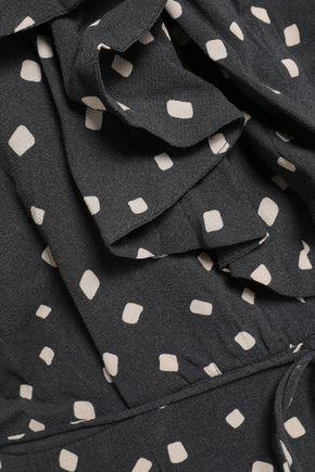 ZIMMERMANN Ruffled printed crepe jumpsuit
