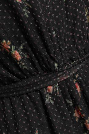 ZIMMERMANN Floral-print fil coupé silk-blend chiffon jumpsuit