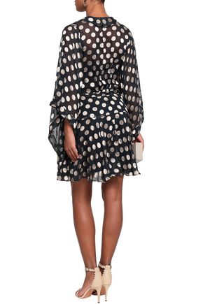 ZIMMERMANN Wrap-effect fil coupé silk-blend mini dress