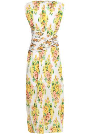 ZIMMERMANN Floral-print plissé-georgette midi dress