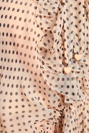 ZIMMERMANN Painted Heart ruffled floral-print silk-georgette mini dress