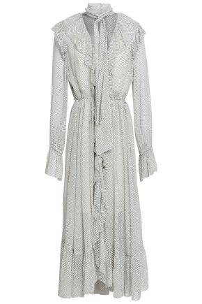 ZIMMERMANN Ruffled printed georgette midi dress