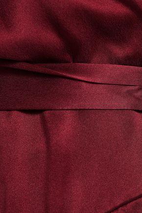 ZIMMERMANN Washed-silk mini wrap dress