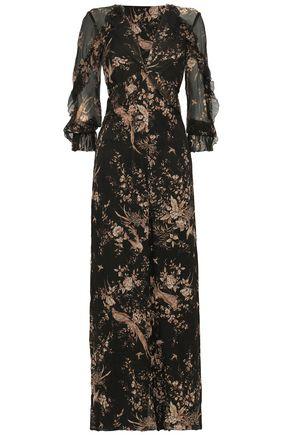 ZIMMERMANN Floral-print silk-georgette jumpsuit