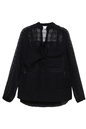 ZIMMERMANN Lace-paneled fil coupé blouse