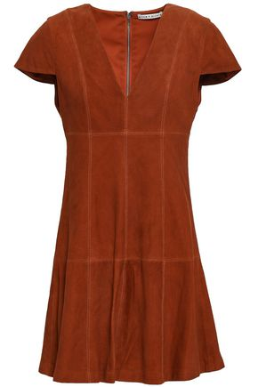 ALICE + OLIVIA Suede mini dress