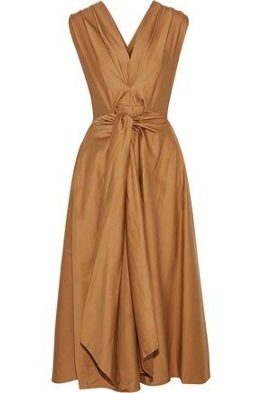395183ad00 TOME Tie-front pleated cotton-poplin midi dress