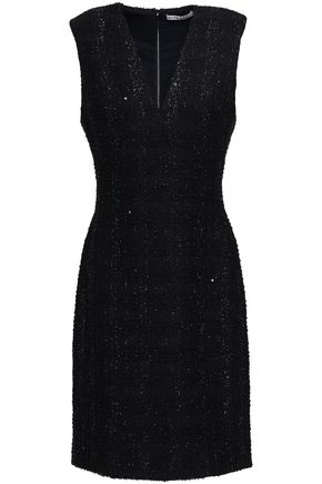 ALICE + OLIVIA Adelaide sequin-embellished metallic tweed dress