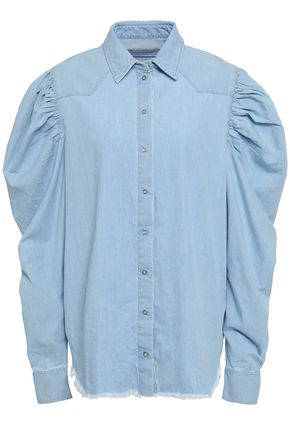 MARQUES' ALMEIDA Frayed cotton-chambray shirt