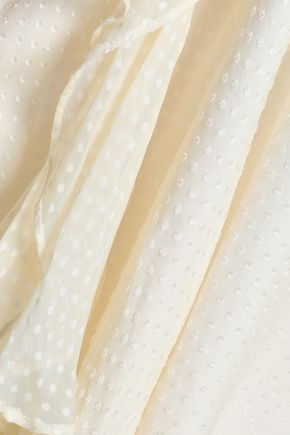 ZIMMERMANN Folly Flouce Swiss-dot silk-blend chiffon camisole