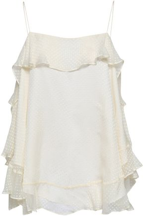 ZIMMERMANN Folly Flouce Swiss-dot silk-blend chiffon camisole