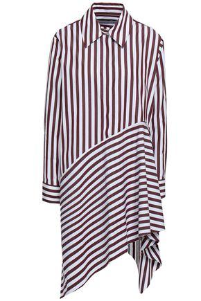 MARQUES' ALMEIDA Asymmetric striped cotton-poplin shirt dress
