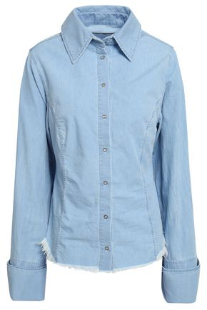 MARQUES' ALMEIDA Frayed cotton-poplin shirt