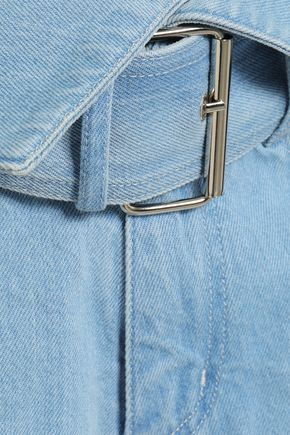 MARQUES' ALMEIDA Tie-detailed belted denim shorts