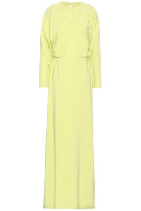 VALENTINO Silk crepe de chine maxi dress