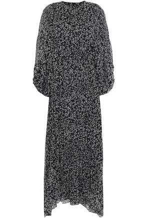 ZIMMERMANN Pleated printed silk-georgette maxi dress