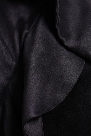 ZIMMERMANN Wrap-effect ruffled cutout silk-satin playsuit
