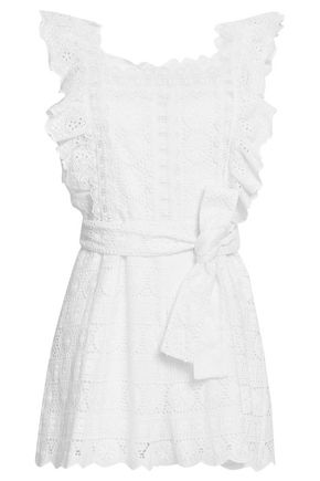ZIMMERMANN Kali Daisy ruffled broderie anglaise cotton playsuit